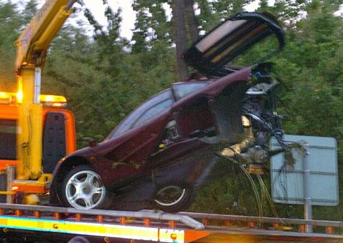 Rowan Atkinson McLaren F1 Wreck Tow Truck Mr Bean