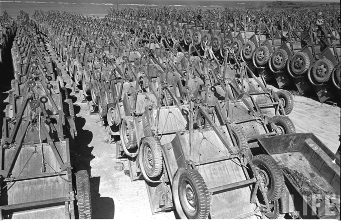 Jeep Willys Bantam Trailers Salvage Yard Okinawa 1949 B