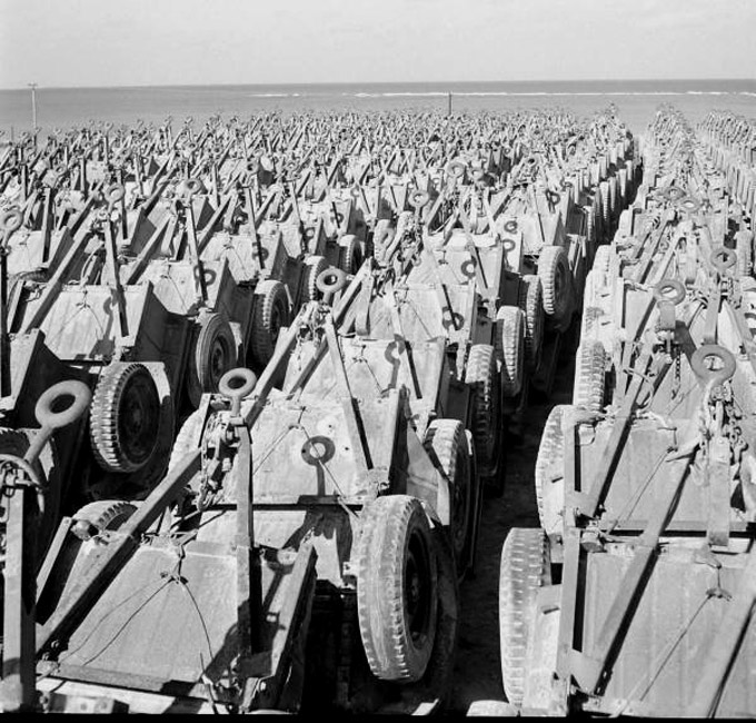 Jeep Willys Bantam Trailers Salvage Yard Okinawa 1949