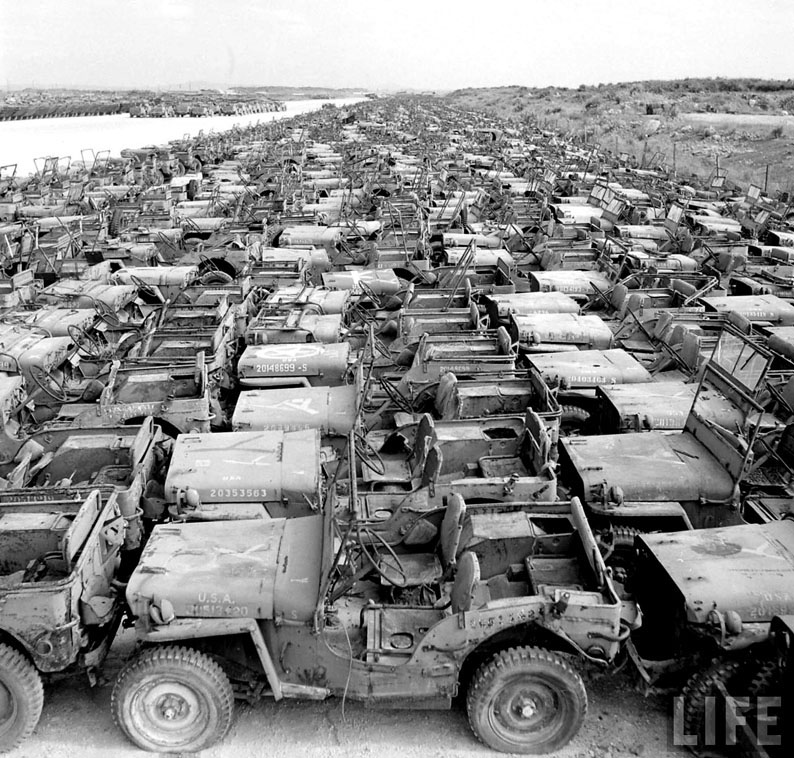 Jeep WWII Salvage Yard Full of Willys MB & Ford GPW