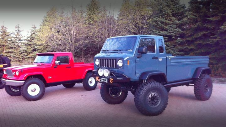 Leaked Images of Jeep Might FC and J-12 Pickup Concepts Prior to Moab