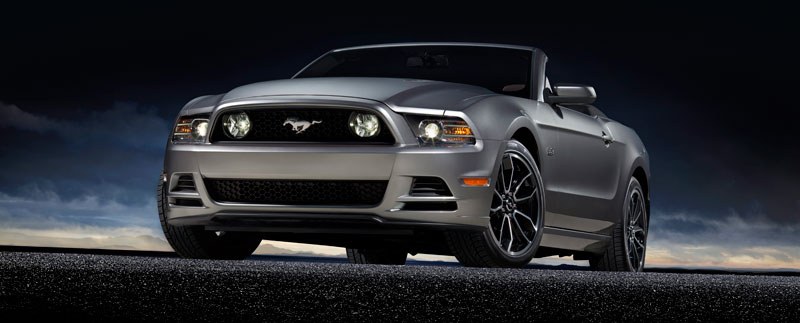 2013 Ford Mustang GT 5.0L Convertible Silver Front Motor City