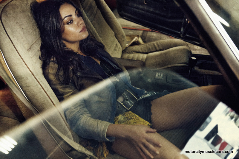 Mila Kunis Poses Interior 1977 Pontiac Trans AM Interview Magazine