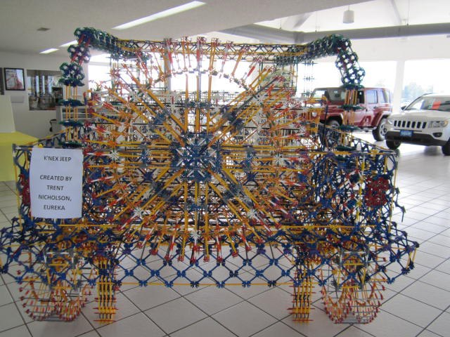 Jeep Wrangler Built From KNEX by Trent Nicholson for Roanoke Motor Co